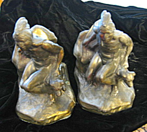 Antique Native Hunter Bookends