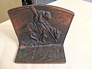 Antique End of Trail Bookend Pair (Image1)