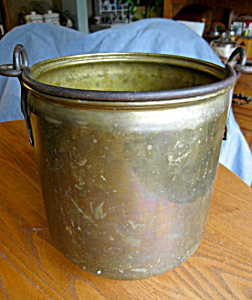 Large Vintage Brass Bucket