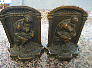 Antique Thinker Bookends