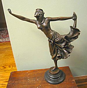 Art Deco Vintage Bronze Belly Dancer (Image1)