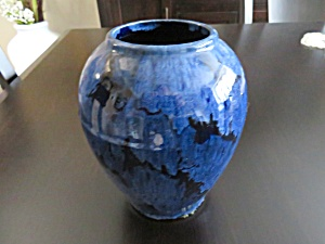 Brush Mccoy Blue Onyx Vase
