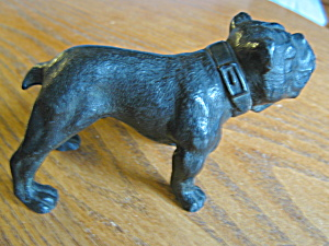 Antique Signed Metal Bulldog