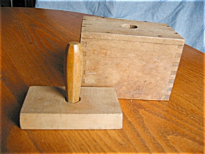Primitive Wooden Butter Mold
