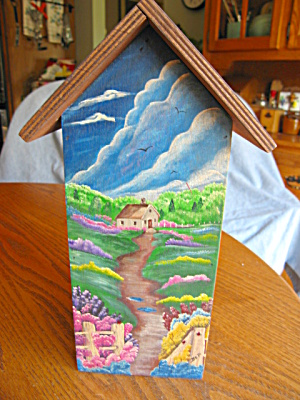 Hand Painted Wood Butterfly Box (Image1)
