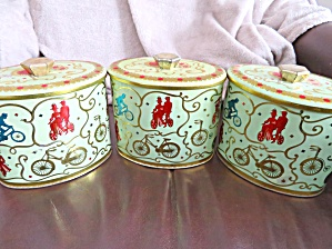 Baret Ware Bicycle Tins