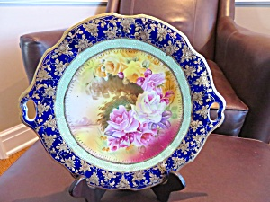 Hand Painted Vintage Cake Plate (Image1)