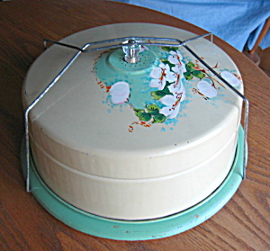 Antique Cakesaver Hand Painted (Image1)