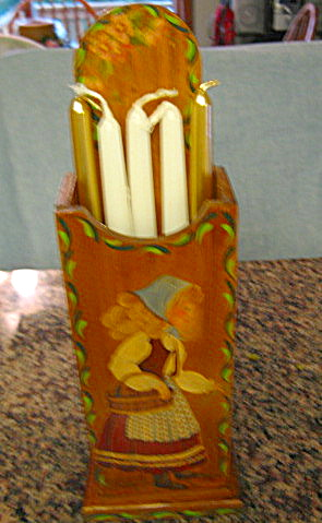 Hand Painted Candle Box