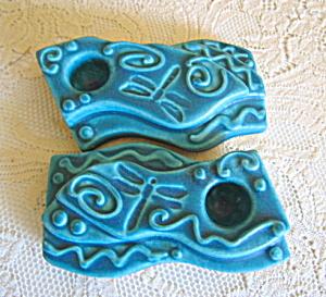 Studio Art Pottery Candleholders (Image1)