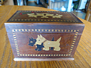 Vintage Card Box Scottie Dog