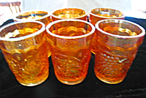 Imperial Carnival Glass Tumblers (Image1)