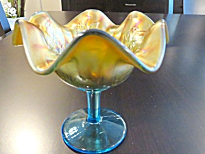 Carnival Glass Vintage Compote (Image1)
