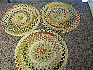 Vintage Chenille Chair Pads (Image1)