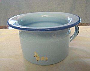Vintage Graniteware Chamber Potty