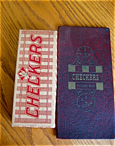 Vintage Checkers Game