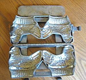 Double Hen Chocolate Mold (Image1)