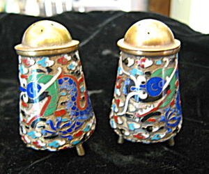 Antique Cloisonne Shakers