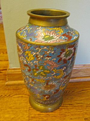 Vintage Japanese Cloisonne Vase Large