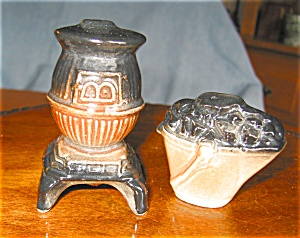 Vintage Stove And Coal Bucket Shakers