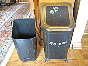 Victorian Coal Hod Tole Painted