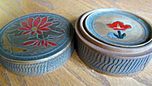 Vintage Japan Wooden Coasters (Image1)