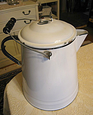Huge Vintage Graniteware Coffee Boiler