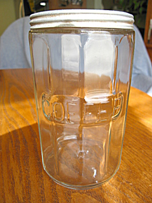 Depression Glass Coffee Jar