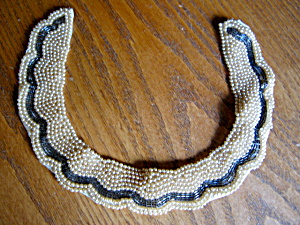Vintage Pearl And Beaded Collar