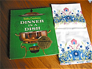First Edition Betty Crocker Cookbook And Linen