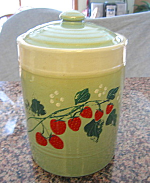 Usa Vintage Cookie Jar Strawberries