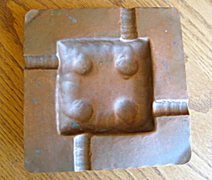 Arts And Crafts Copper Ashtray
