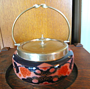 Antique English Cracker Jar (Image1)