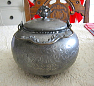 Victorian Silverplate Cracker Jar (Image1)