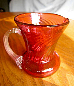Vintage Cranberry Glass Creamer