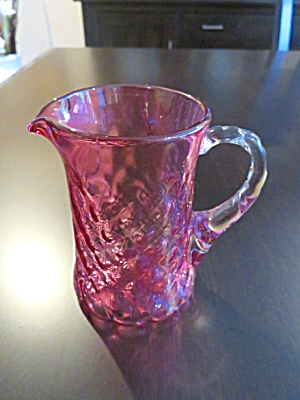 Cranberry Glass Vintage Creamer