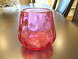 Hand Blown Vintage Cranberry Glass