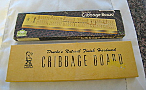 Vintage Cribbage Boards