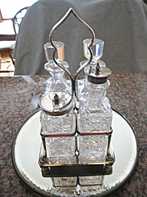 M. & Co. Antique Cruet Set