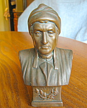 Antique Copper Plated Dante Bust