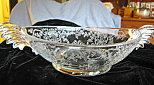 Fostoria Etched Depression Glass Bowl