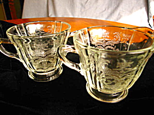 Madrid Depression Glass Creamer And Sugar