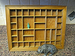 Vintage Wood Display Shelf & Wade