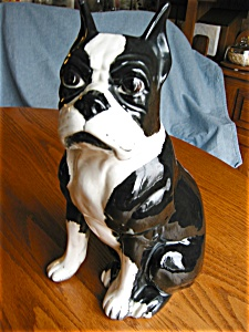 Ceramic Boston Terrier Figurine