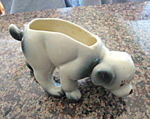Vintage Crouching Dog Planter
