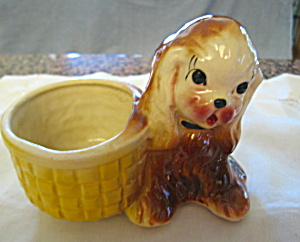 Vintage Cocker Spaniel Planter