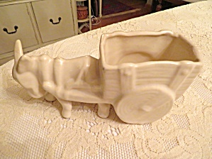 Mccoy? Donkey And Cart Planter