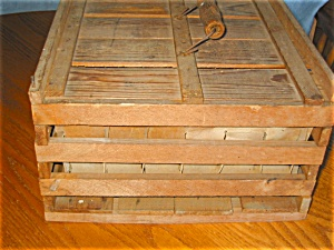 Vintage Wood Egg Crate