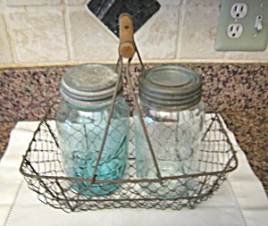 Egg Basket & Mason Jars