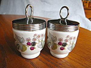 Royal Worcester Egg Coddler Pair